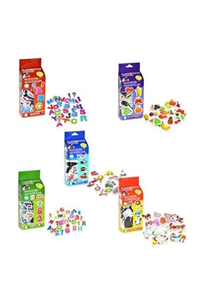 DF Toys Manyetik Set Ve Sebze Meyveler Eğitici Oyuncak Alfabe /