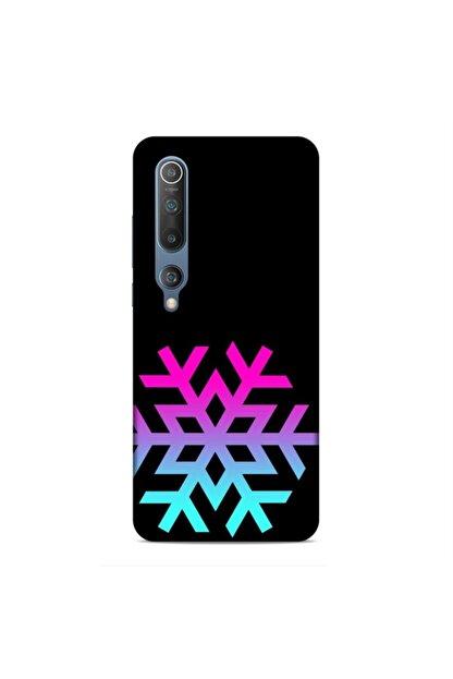 Pickcase Xiaomi Mi 10 Kılıf Desenli Arka Kapak Kar Tanesi