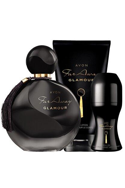 Avon Far Away Glamour Parfüm Vücut Losyonu Rollon Paketi