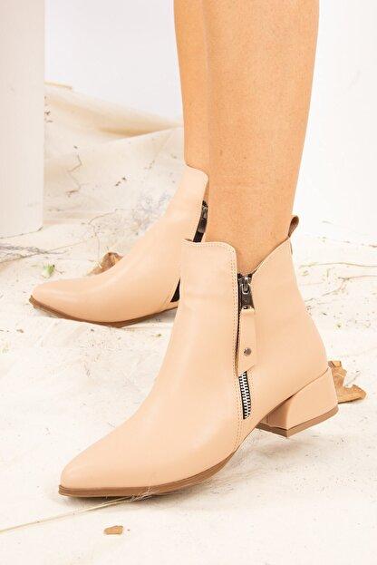 Fox Shoes Ten Suni Deri Kadın Bot G820001309