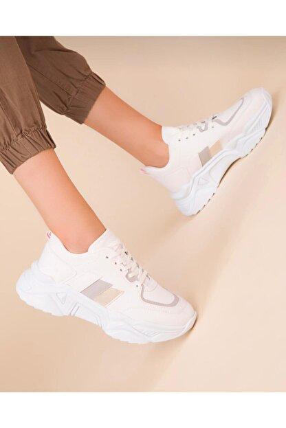 ZERBANOZ Kadın Beyaz Spor Ayakkabı