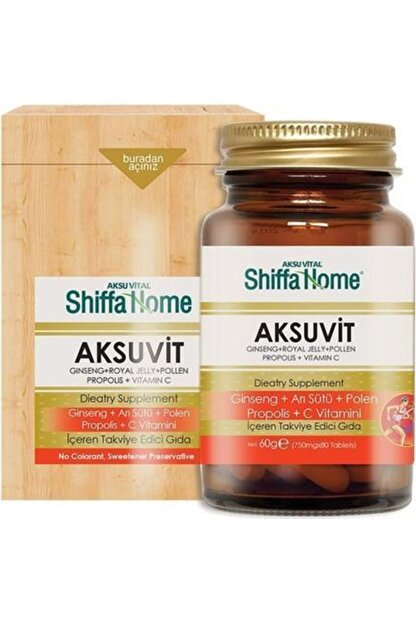 Aksu Vital Aksuvit Ginseng 750 Mg 80 Tablet