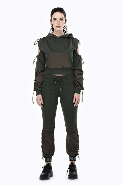 Ruck & Maul Kadın Yeşil Örme Pantolon 21061 10509