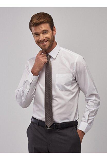 Altınyıldız Classics Erkek Beyaz Regular Fit Klasik Gömlek