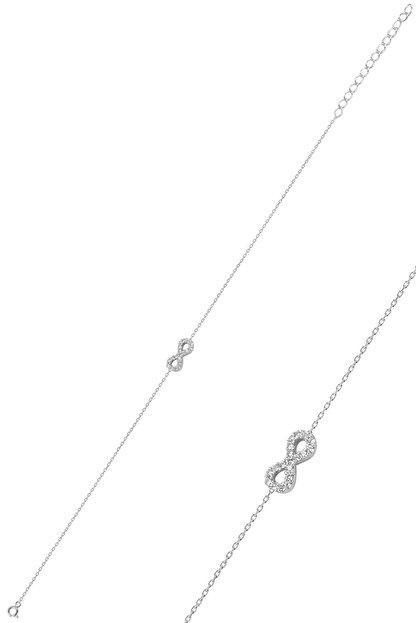 Söğütlü Silver Gümüş Rodyumlu Sonsuzluk Bileklik