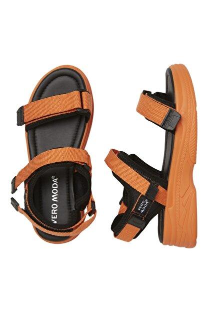 Vero Moda Kadın Turuncu Ayarlanabilir Bantlı Yürüyüş Sandaleti 10228981 VMBENILLA