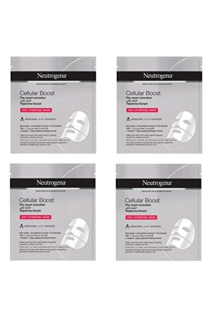 Neutrogena 4 Adet Cellular Boost Yaşlanma Karşıtı Hidrojel Maske 30 ml