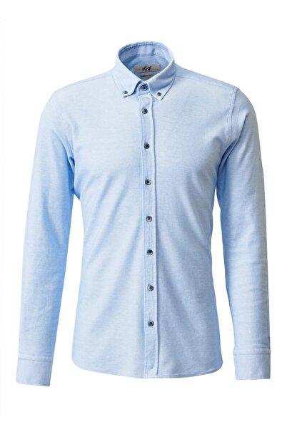 Altınyıldız Classics 360 Derece Her Yöne Esneyen Düğmeli Yaka Örme Tailored Slim Fit Gömlek