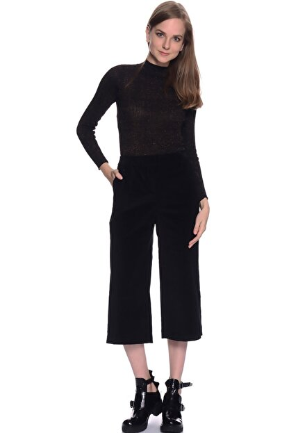 LİMON COMPANY Kadın Siyah Bol Paça Pantolon 501961367
