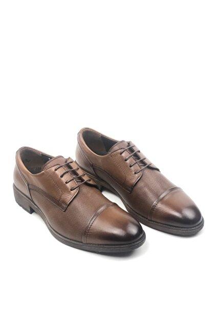 MARCOMEN Hakiki Deri Baskılı Erkek Klasik Rahat Taban Ayakkabı