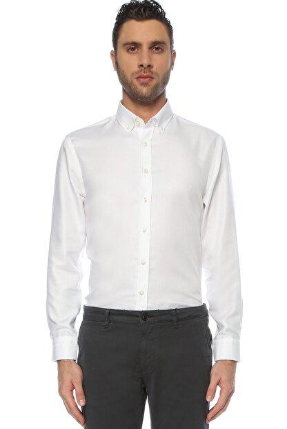 Network Erkek Beyaz Non Iron Beyaz Desenli Gömlek 1075280