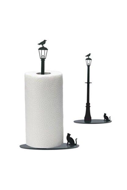 thorqtech Metal Kağıt Havluluk Kedi/kuş Figürlü Dekoratif Siyah Mat Elektrostatik Boya