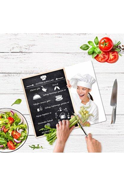 Saban Mutfak Kuralları Cam Kesme Tahtası Cam Kesme Tablası 30 vm X 40 cm