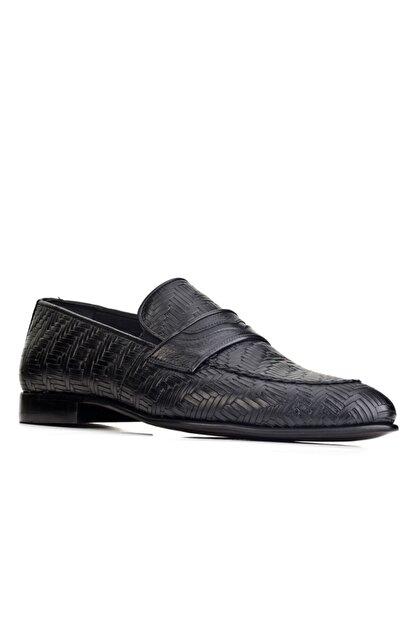 Cabani Erkek Siyah Hakiki Deri Klasik Ayakkabı 0KEP02AY003700