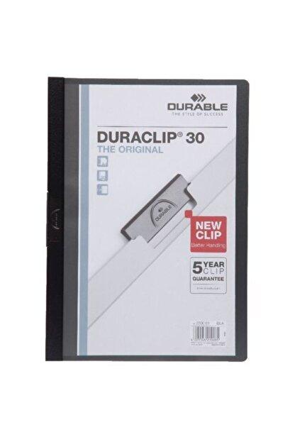 Durable 2200-s A4 Sıkıştırmalı Dosya Duraclip Ortadan Klipsli 30 Sayfa Siyah (5 Adet)