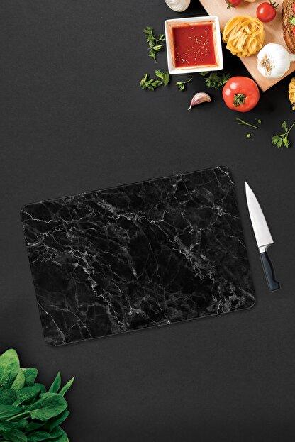 Decorita Siyah Mermer Görünümlü | Cam Kesme Tahtası - Cam Kesme Tablası | 30cm x 40cm