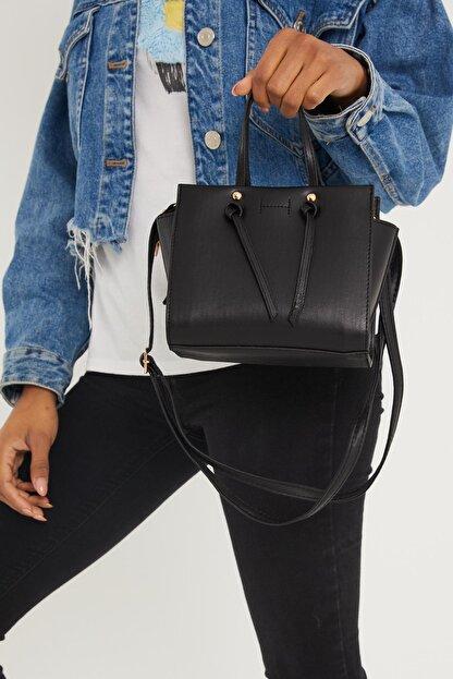 Çantacımstore Kadın Siyah El Ve Omuz Çantası