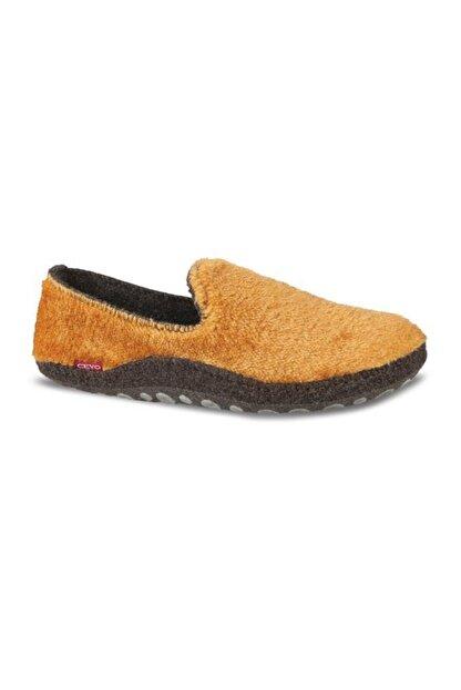 Ceyo Kadın Hardal Keçe Ev Ayakkabısı