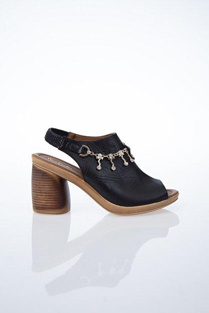 Pierre Cardin PC-6077 Siyah Kadın Sandalet