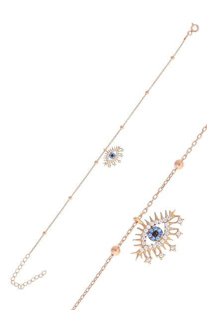 Söğütlü Silver Gümüş Rose Top Top Zincirli Lareyn Bileklik