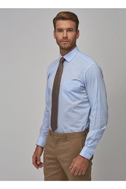 Altınyıldız Classics Erkek Açık Mavi Regular Fit Klasik Gömlek