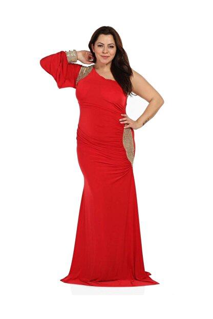 Günay Kadın Kırmızı Abiye Elbise