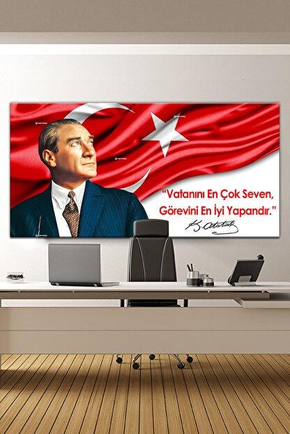 Nazenin Design Atatürk Makam Panosu Tablosu Kanvas Tablo