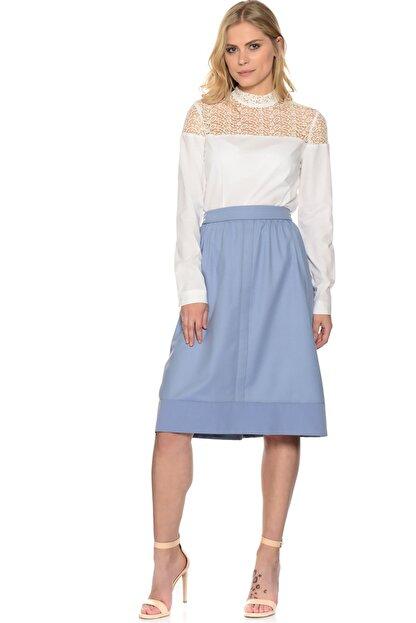 Fabrika Kadın Mavi Midi Etek 501938811