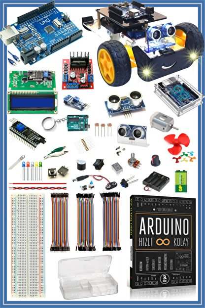 Arduino Başlangıç Seti Uno R3 ( Ch340 ) Süper Ideal Set --