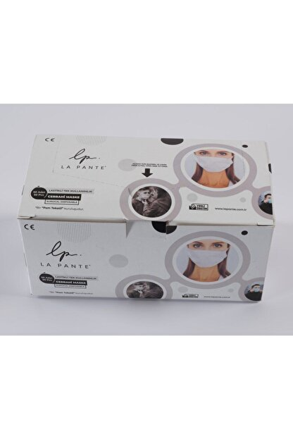 SURENO Üç Katmanlı Koruyucu Telli Maske - 50 Adet Sterilize Kutu