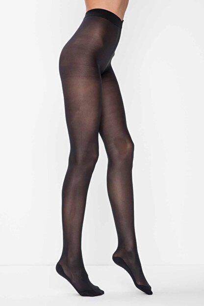 Penti Kadın Siyah Micro 40 Külotlu Çorap