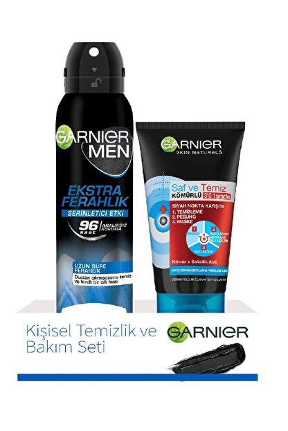 Garnier Men Ekstra Ferahlık Deodorant 150 Mml + 3 In 1 Saf Temiz Kömürlü Maske 50 ml