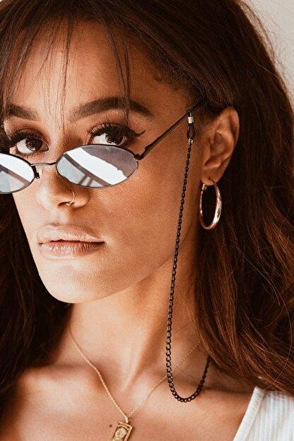 Marbling Kadın Gözlük Zinciri Gözlük Aksesuarı Siyah