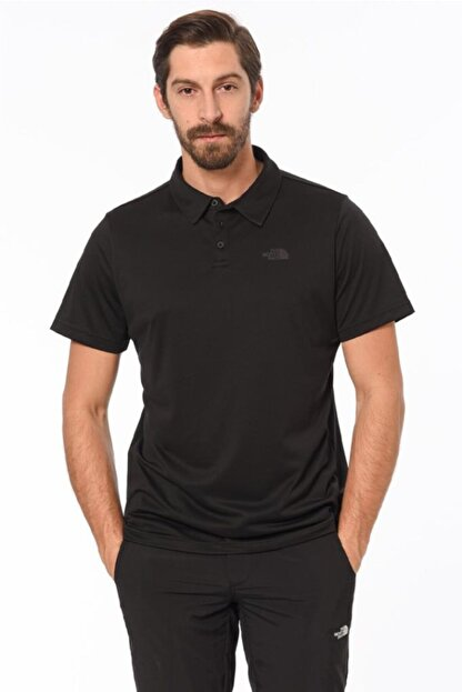 The North Face Tanken Polo Erkek T-shirt Siyah