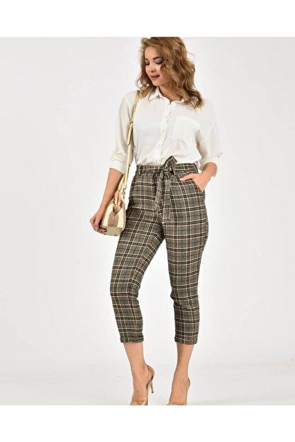 Çarşım Mağazaları Kadın  Ekose Balıksırtı Pantolon