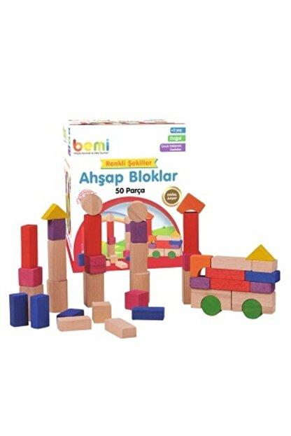 BEMİ Ahşap Bloklar 50 Parça (ofset Kutu)