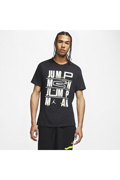 Nike Erkek Siyah Jordan Dect Jumpman Ss Crew T-shirt Cj6302-010