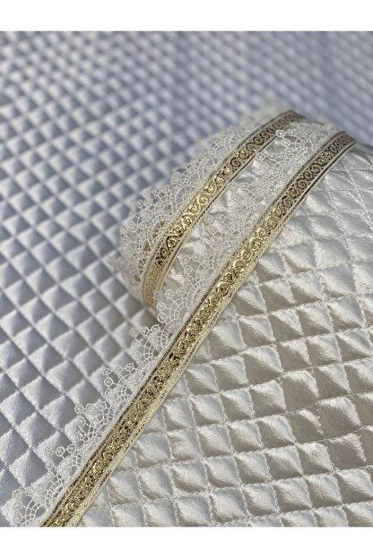 Kaizen Carpet Krem 60cmx10mt Rulo Gold Su Taşı Detaylı Deri Saten Lüks Kapitone Raf Çekmece Örtüsü-derinlik 60 Cm