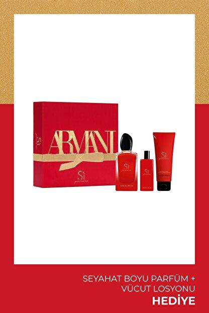 Giorgio Armani Si Passione Intense Edp 100 Ml Kadın Parfüm Seti 3614273231701