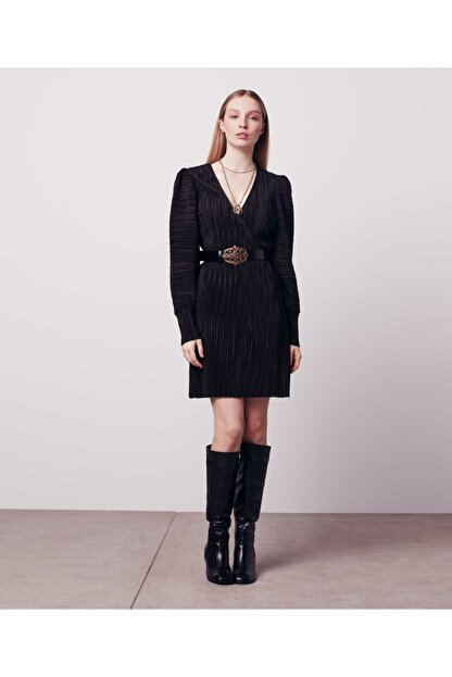 İpekyol Kadın Siyah Anvelop Elbise
