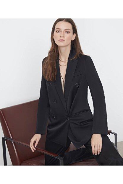 İpekyol Kadın  Siyah Saten Ceket