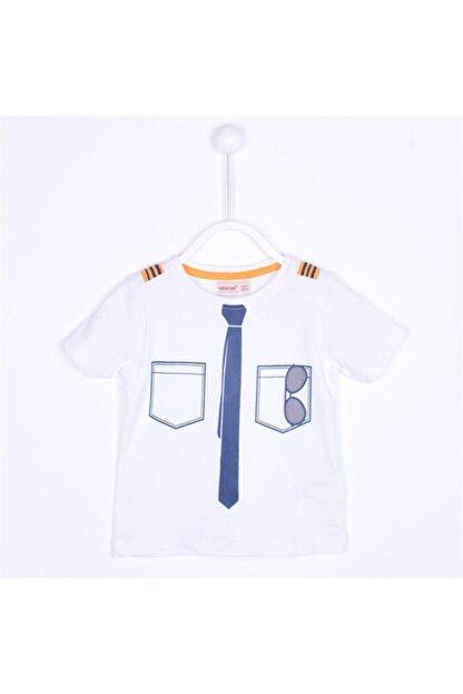 Sılversun Erkek Beyaz Bebek T Shirt