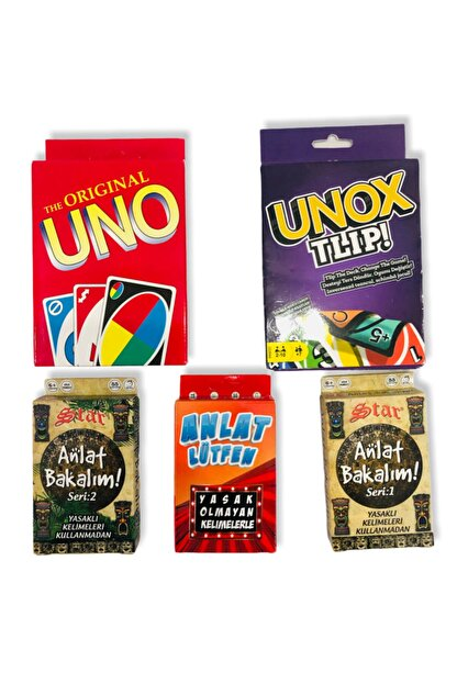 Misalanka Uno + Unox Anlat Bakalım Serileri 5'li Set