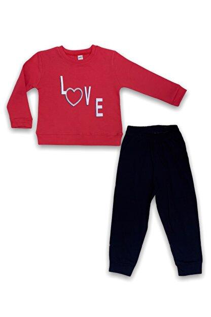 Minigo Kız Çocuk Pembe Love Takım