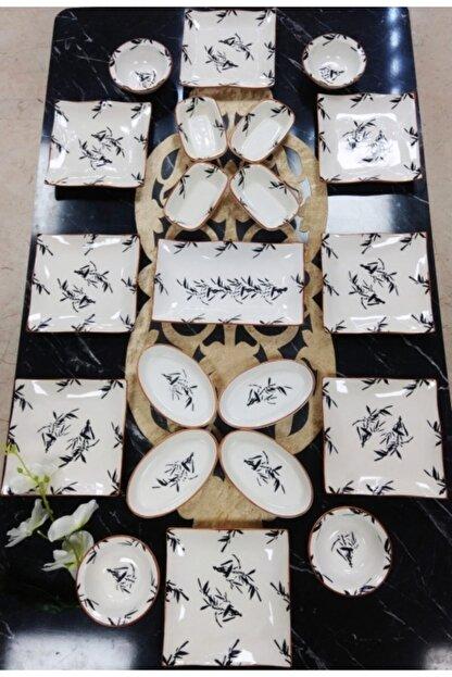 Yiğit Seramik Züccaciye Zeytindalı 8 Kişilik 21 Parça Kahvaltı Takımı