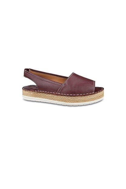 Ceyo Kadın Bordo Ortopedik Sandalet 2352 (36-40)