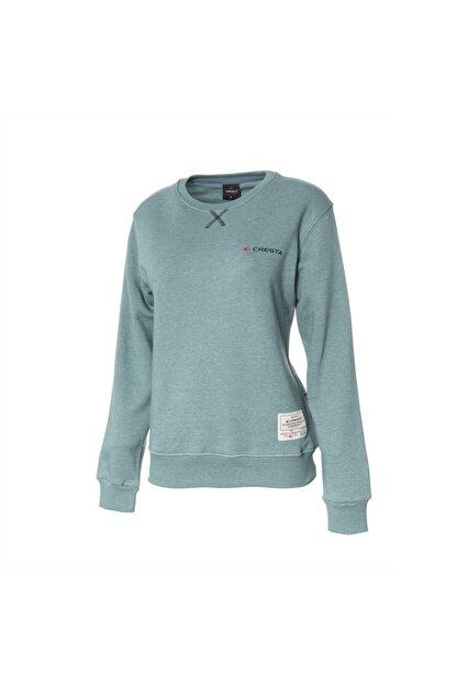 Cresta Kadın Yeşil Basic Outdoor Sweatshirt