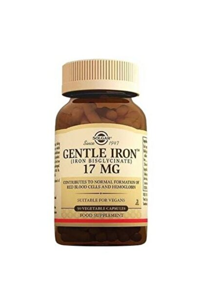 Solgar Gentle Iron 17 Mg 90 Kapsül