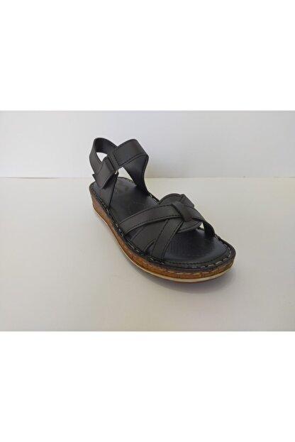 İpekçe Home Kadın Siyah Ortapedik Sandalet