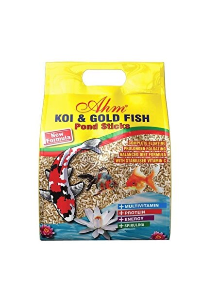 Ahm Koi Goldfish Naturel Pond Sticks Balık Yemi 1 Kg